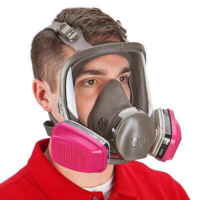 3m 6900 Full Face Respirator W 1 Pr 60921 P1oo Organic Vapor Cartridge Large