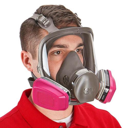 3M 6900 Full Face Respirator W/ 1 PR 60921 P1OO Organic Vapor Cartridge, LARGE
