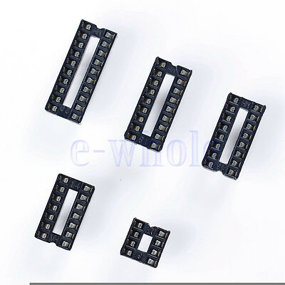 10pcseach 8 14 16 18 20 Pin Dip Ic Socket Adaptor Solder Type Double In-line Hm