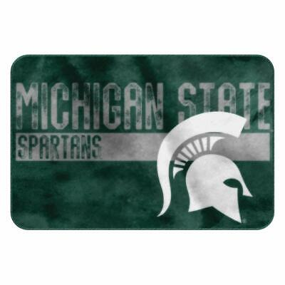 Michigan State Spartans Memory Foam Bath Rug College Football Dorm Bathroom Soft