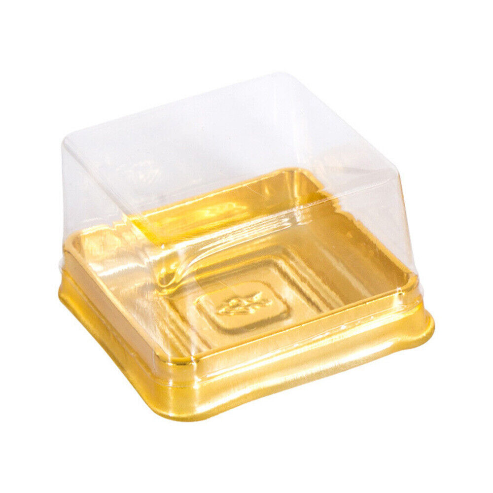 50x Mooncake Cupcake Gift Box Container Liner Lid Baking Party Wedding Holder