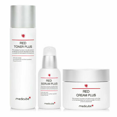 Medicube Red Line Plus 3 set Toner Serum Cream for Acne Prone Skin K-beauty