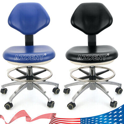 Dental Doctor Assistant Stool Adjustable Height Mobile Chair Pu Hard Leather