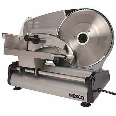 Electric Meat Food Slicer Steel Cheese Cutter Kitchen Tool 8.7 Blade Stainless