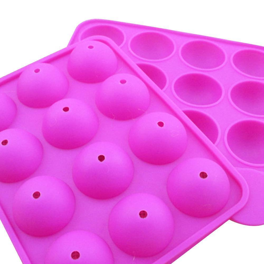Cake Pop Mold Silicone Sphere Cupcake Lollipop Mold Baking Tray