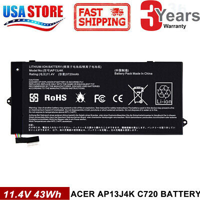 "AP13J3K AP13J4K Battery for Acer Chromebook 11.6"" C720 C740 C720-2848 14 CB3-431"