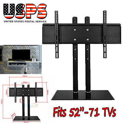 "Universal Tabletop TV Stand Pedestal Base Swivel Wall Mount for 52""-71"" TVs for sale  USA"
