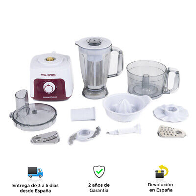 Robot de Cocina Multiprocesador Gourmet de Alta Potencia, 8 Funciones, 1,8L