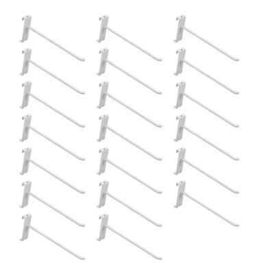 20 Pc 8gloss White Grid Wall Metal Hooks Display For Use W Gridwall Panels
