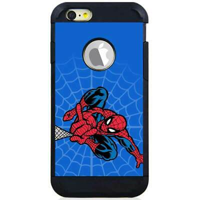 For iPhone 6 Plus / 6S Plus Hybrid Armor Case Cover Spider Man Webshoot Blue S