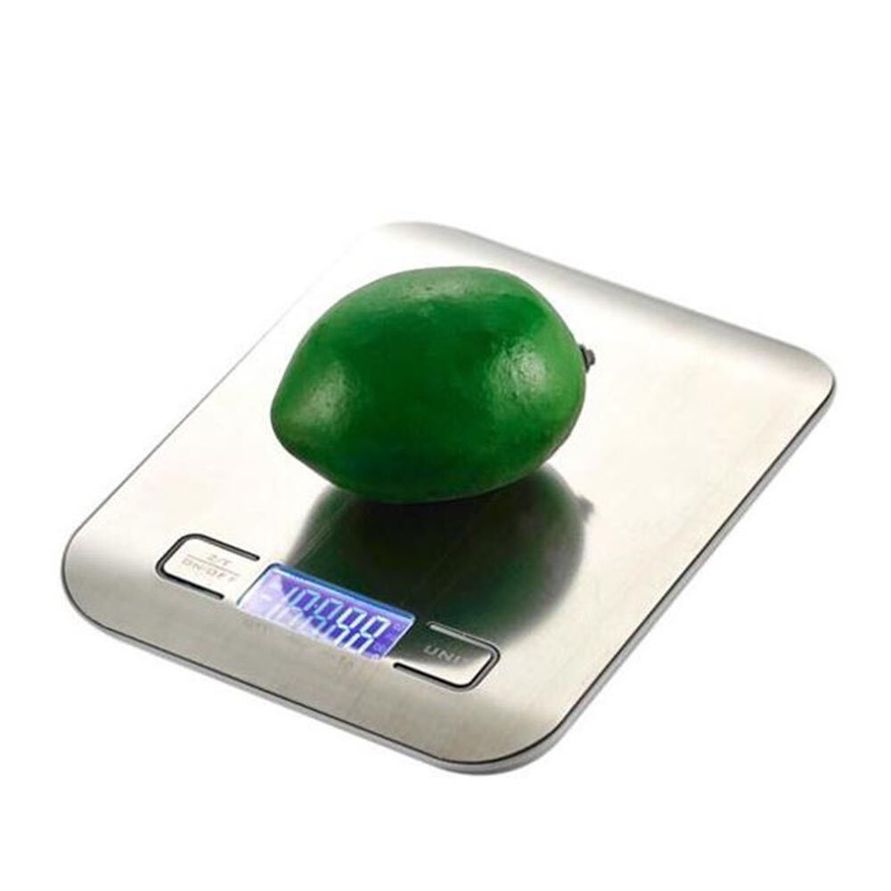 11Lb (5kg) Silver Stainless Steel Platform Kitchen Scale, Food Grade Scale