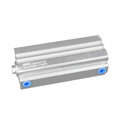 Double Acting Compact Cylinder Pneumatic Air Cylinder Stainless Steel Sda32x100