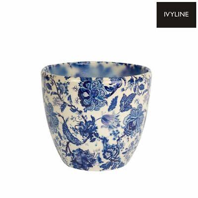 Flower Pot Ivyline Monza Vintage Blue Indoor Planter Plant Pot Flower Pot 15cm