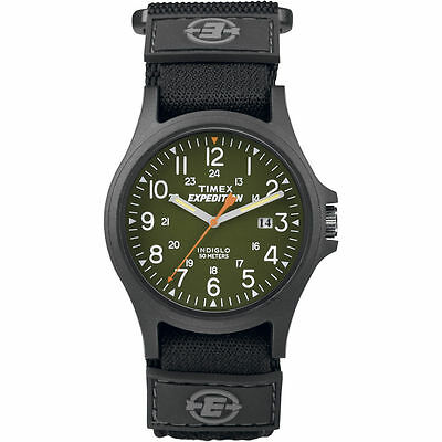 """Timex TW4B00100, Men's """"Expedition Scout"""" Fast-Wrap Watch, Indiglo, Date"""