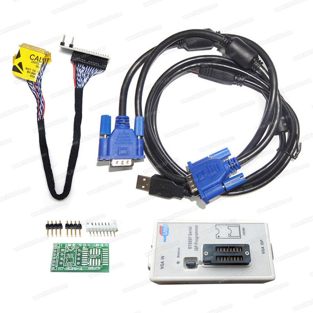 RT809F EPROM FLASH VGA ISP USB Programmer for KB9012QF MB LCD Repair +EDID