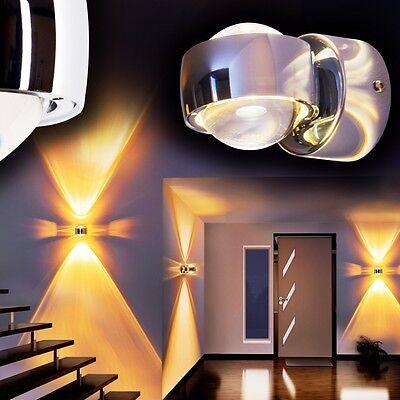 Design Wandleuchte LED Wandlampe Wohnzimmer Strahlers Wandspot Flurlampe Chrom