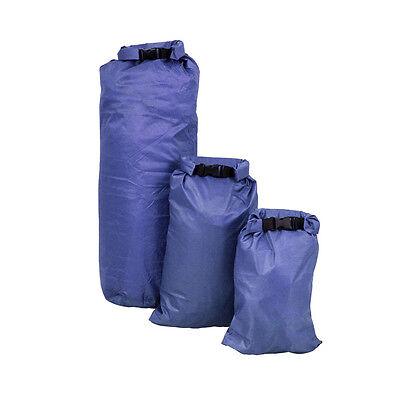 Ultra Lightweight Set of 3 Dry Sacks | 2 4 8 Litre | Camping Kayaking Hiking