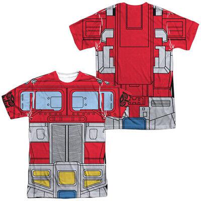 TRANSFORMERS OPTIMUS PRIME COSTUME Licensed Adult Men's Graphic Tee Shirt SM-3XL (Optimus Prime Adult Costume)