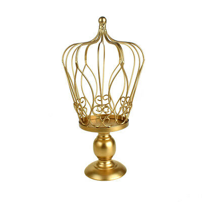 Metal Wired Crown Stand, Gold, - Wire Crown Centerpieces