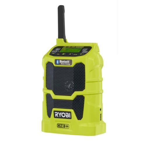 New Ryobi P742 - 18-Volt ONE+ Cordless Compact Radio with Bluetooth Wireless Tec