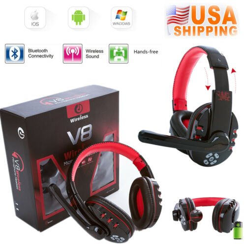V8 Wireless Bluetooth Gaming Headset Earphone Headphone For Phones Tablet PC MP3 Cell Phone Accessories