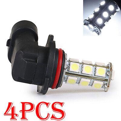 4X Car Pure White 9006 HB4 18-SMD Head Lights Fog Running Driving Lamp LED Bulbs