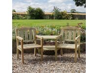 CAROLINE COMPANION SET 2 SEATER WOODEN BENCH/TABLE 5027003000535 RRP£229 BNWT 1 OFF BARGAIN + MORE!!