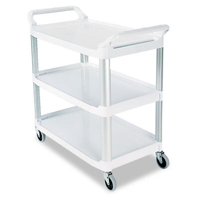 Rubbermaid Open Sided Utility Cart Three-shelf Off-white 409100cm New