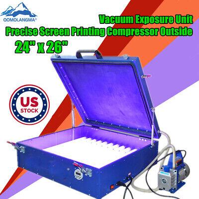 Usa 24 X 26 Vacuum Exposure Unit Precise Screen Printing Compressor Outside