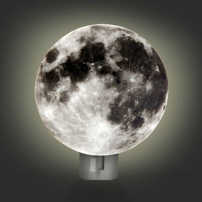 Moon Night Light (Moon LED Night Light Lunar Kids Bedroom Soothing Children Plug In Hallway)
