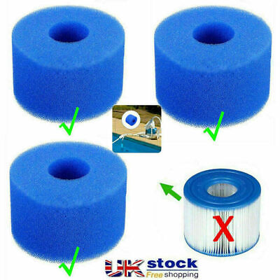 Lay In Clean Spa Hot Tub S1 Washable Bio Foam 1/6X VI LAZY Filter Fast Shipping