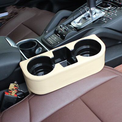 BEST Beige Car Leather Water Drink Cup