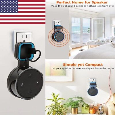 Home Outlet Wall Mount Hanger Holder Stand For Amazon Echo Dot 2Nd Generation