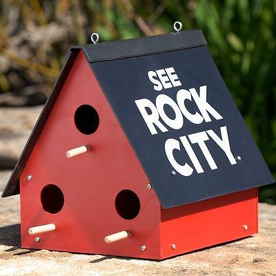 See Rock City Birdhouse Purple Martin Bird House Feeder Garden Yard Rustic Decor