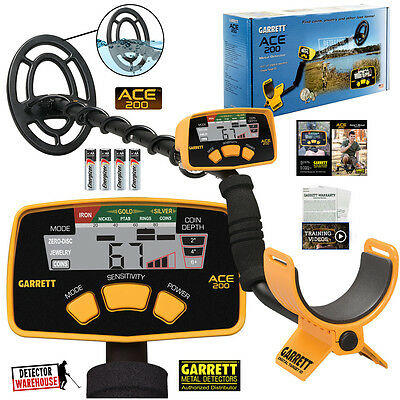 Garrett Ace 200 Metal Detector Waterproof Searchcoil Version, USA Version