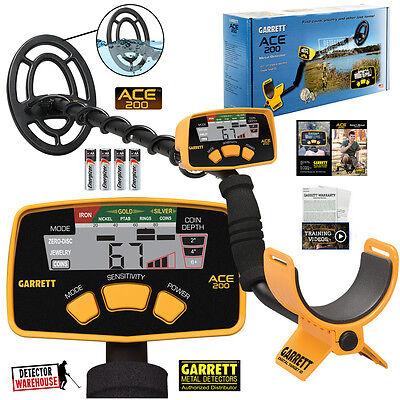 Garrett Ace 200 Metal Detector Waterproof Searchcoil Version, USA Version