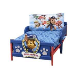 """Paw Patrol Toddler Bedding 2 Piece Set - 28"""" x 52"""" Bed Sheet and Pillowcase Set"""