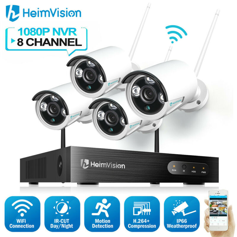HeimVision 8CH NVR Audio Wireless Camera 1080P Outdoor WIFI CCTV Security System