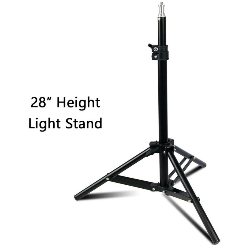 """Photography Mini Aluminum Back Light Stands Tripod 28"""" Max Height for Table Top"""