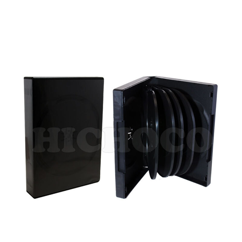 20 ct Multi 10 Disc CD DVD Black Case with Outter Sleeve Movie Game Box 33mm