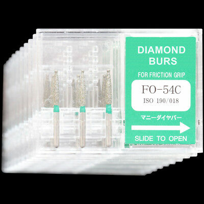 10 Boxes Fo-54c Mani Dia-burs For Dental High Speed Handpiece Diamond Burs Drill