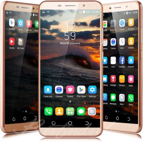 """Android Phone - Unlocked Cheap Android 7.0 Mobile Smart Phone Quad Core Dual SIM  6.0"""" Touch New"""