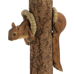 Woodland Squirrel Tree Decor Lawn Yard Garden Ornament Garden Statuary Art new