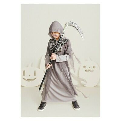 Hyde and Eek! Kids' Restless Soul Halloween Costume Grim Reaper Robe Small 4-7 - 7 Person Halloween Costume