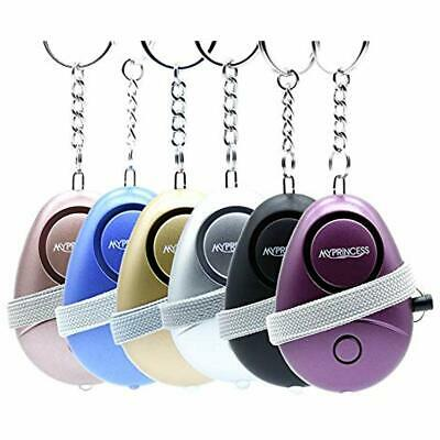MYPRINCESS Portable Self Defense Personal Alarm 6Pack 130DB Safe Sound Security