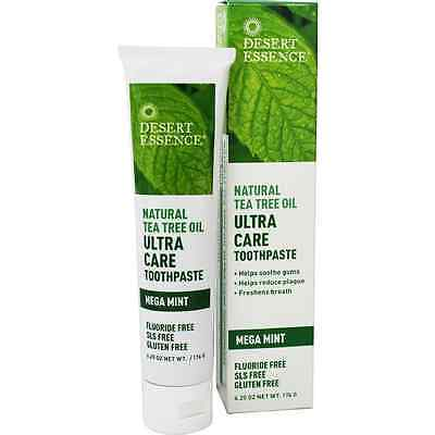 Desert Essence Natural Tea Tree Oil Ultra Care Toothpaste, Mega Mint 6.25 oz