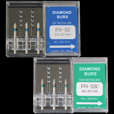 10boxes Fo-32c Mani Dental High Speed Handpiece Diamond Burs Fg1.6mm Tooth Drill