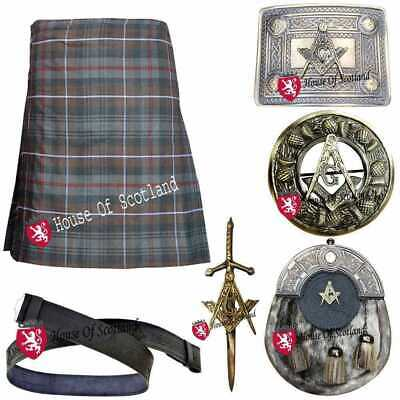 Hs Herren Schottisch Traditionell Kilt Set Outfit 455ml 7,3 M Acryl Wolle Tartan