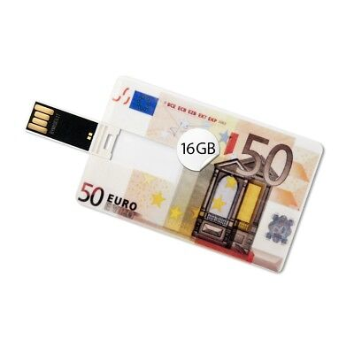 16 GB Speicherkarte in Scheckkartenform 50 Euro USB