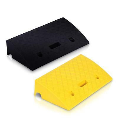 Pyle Pcrbdr27 - Heavy Duty Curb Ramp Loading Dock Drive Way Blackyellow Ramp
